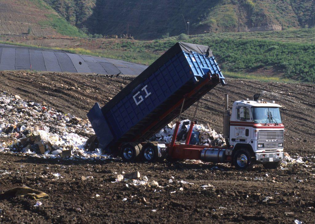 Вывоз мусора на полигон
