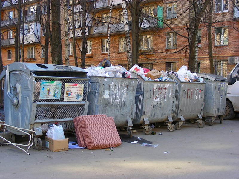 Требования к организации мусорных площадок