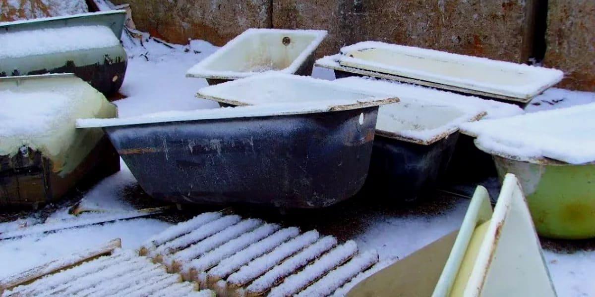 Трудности при вывозе чугунных ванн