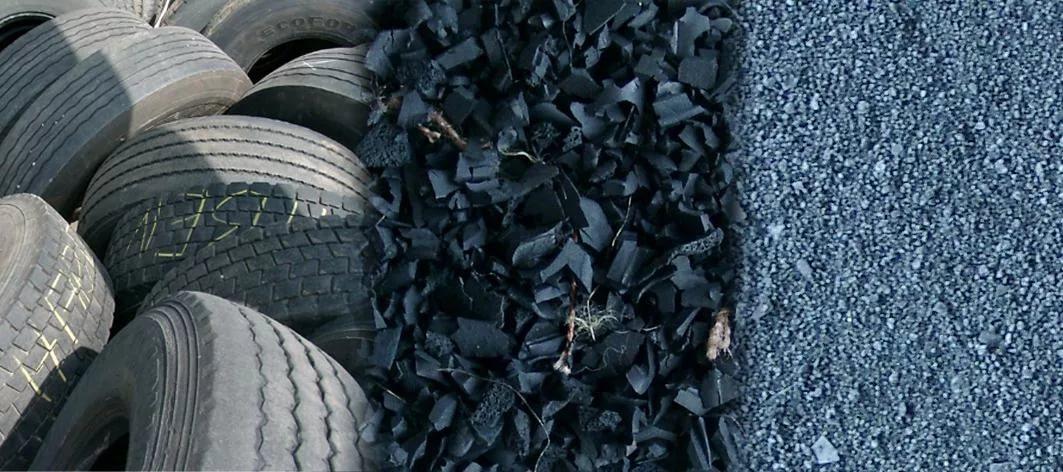 Этапы работы заводов по переработке автомобильных покрышек