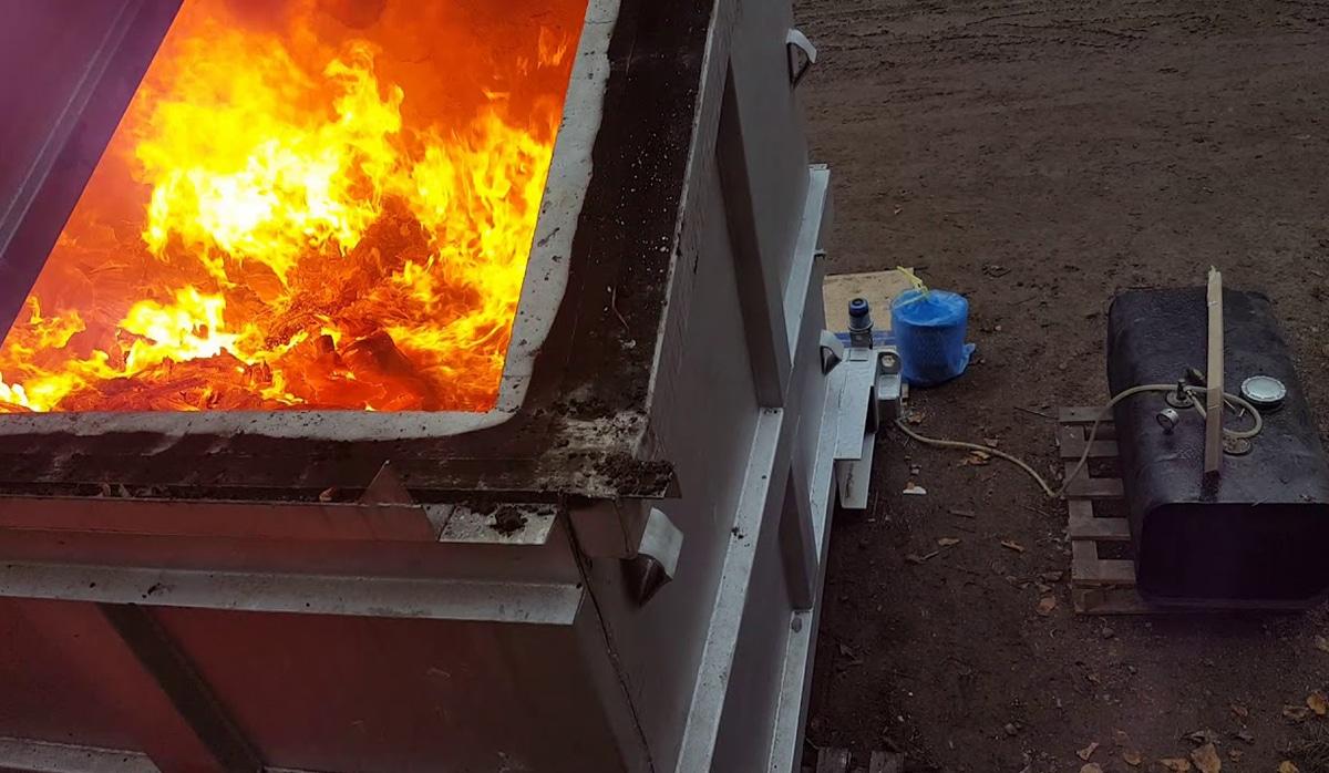 Инсинератор горение отходов