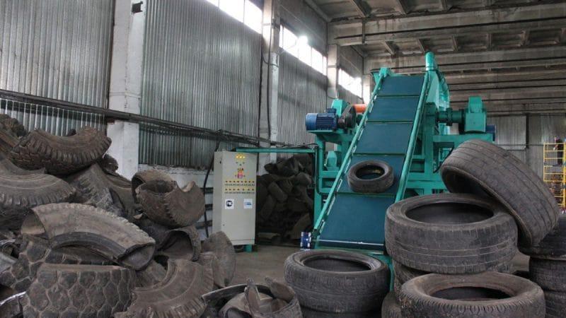Оборудования для переработки старых покрышек