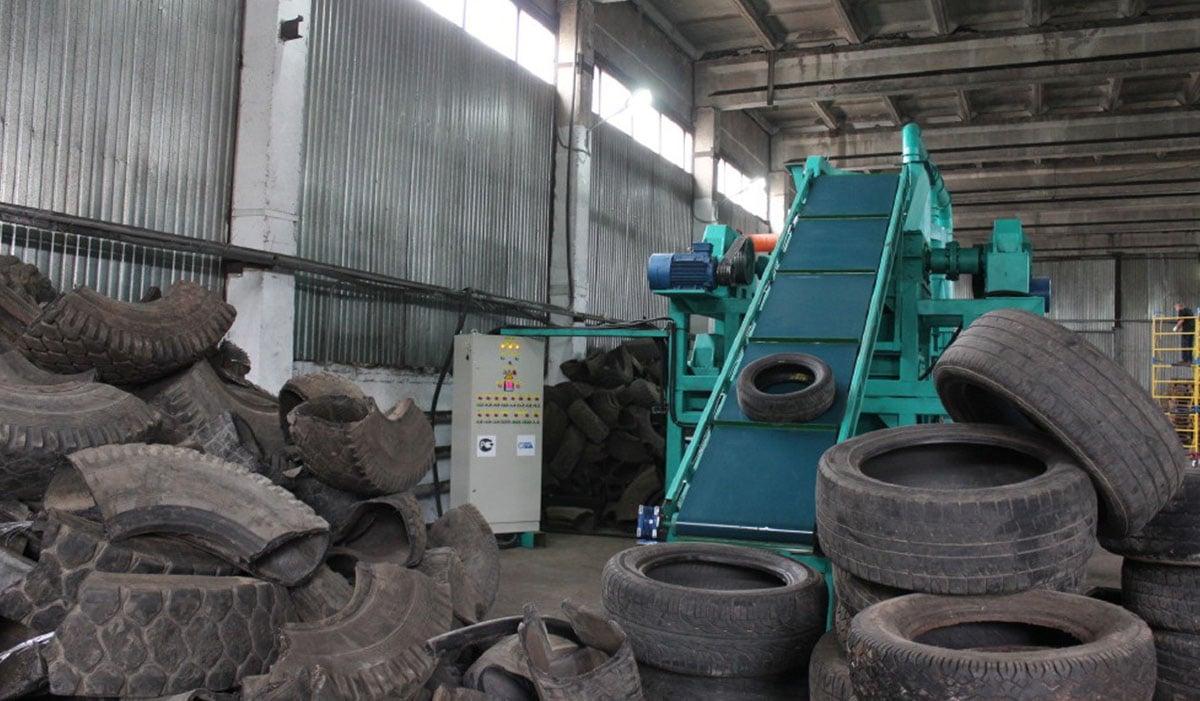 Типы оборудования для переработки старых покрышек