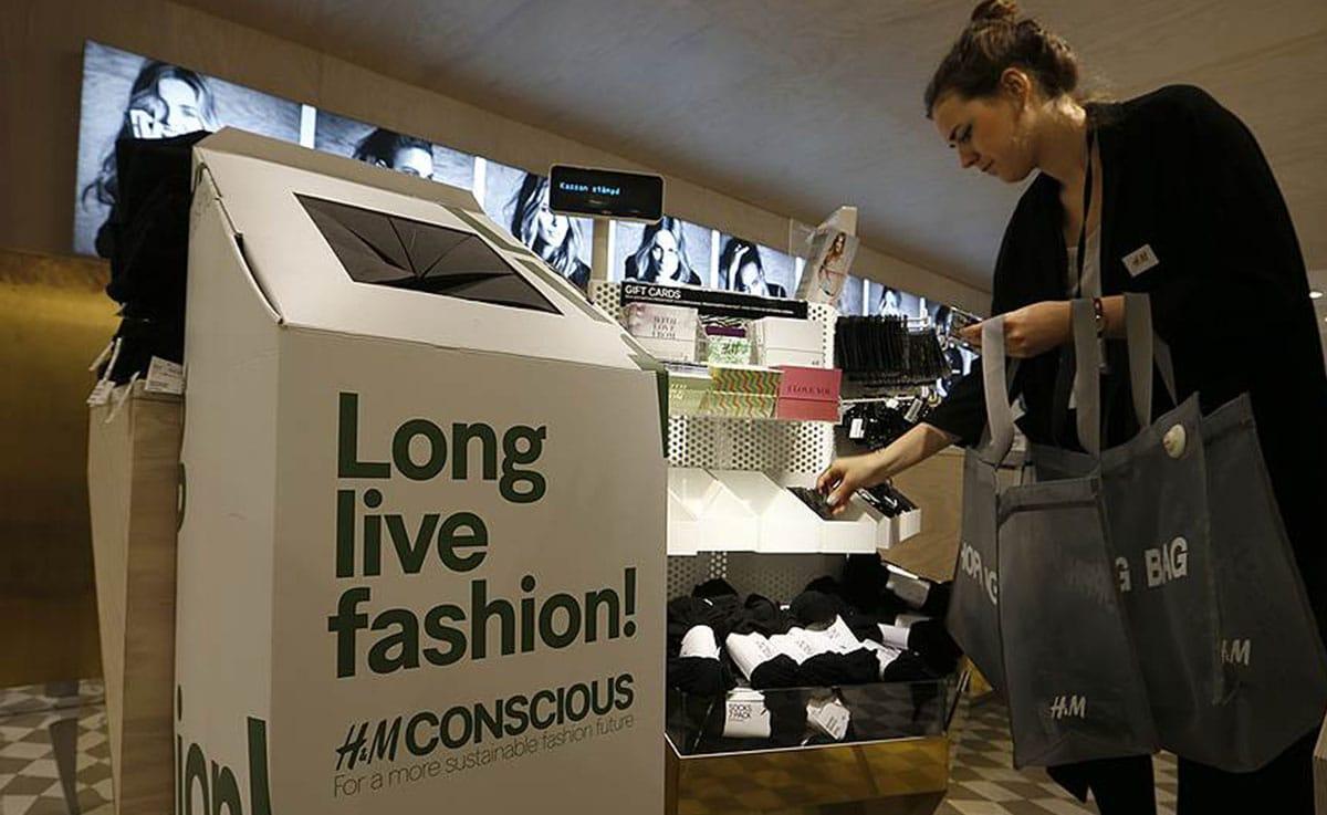 Утилизации одежды в H&M
