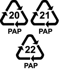 Код переработки бумаги