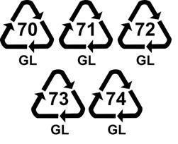 Код переработки стекла