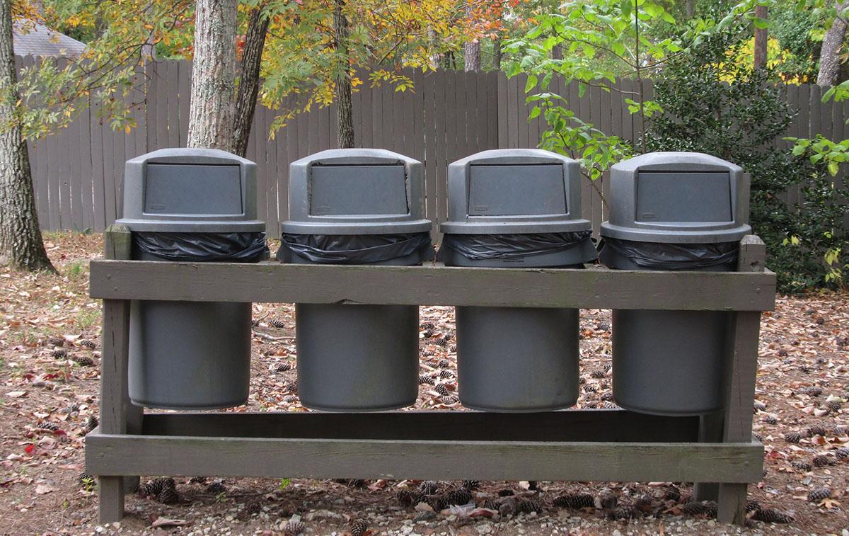 Специальное место для мусора