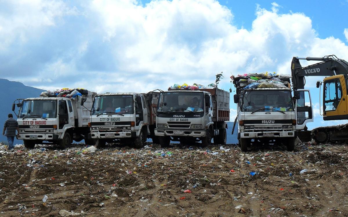 Прием отходов на полигоне