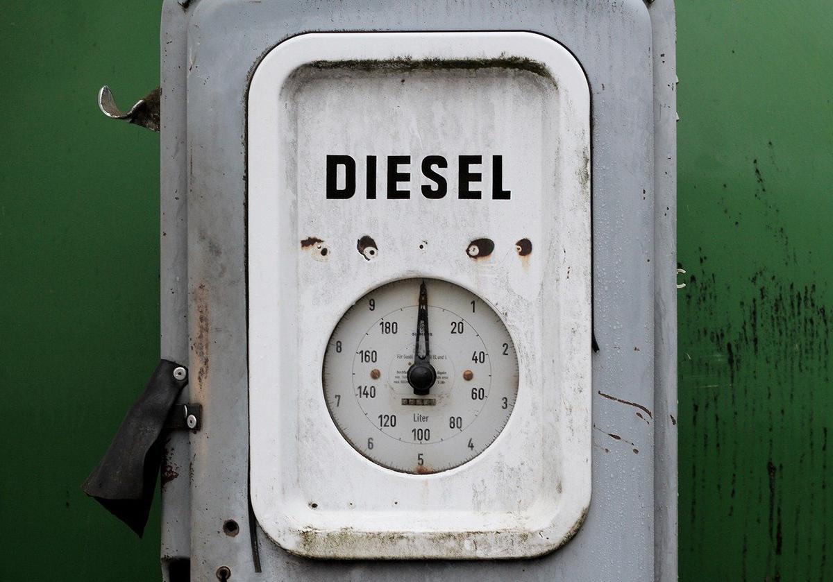 Колонка заправки дизельным топливом