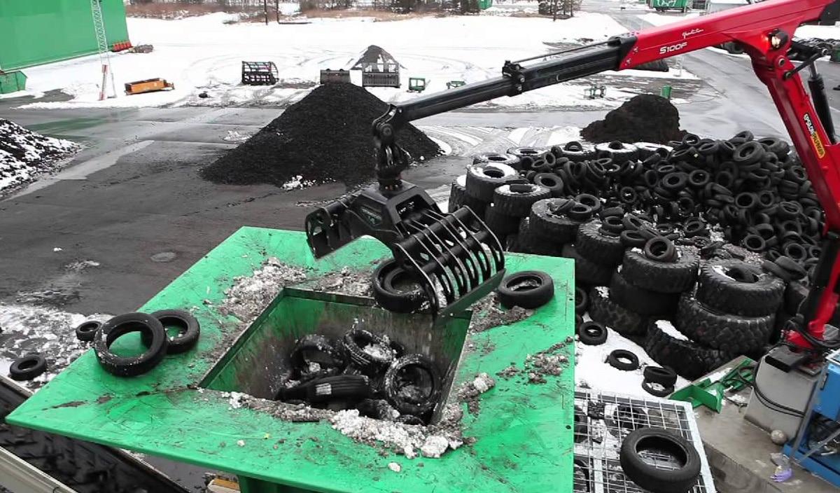 Механическое измельчение шин