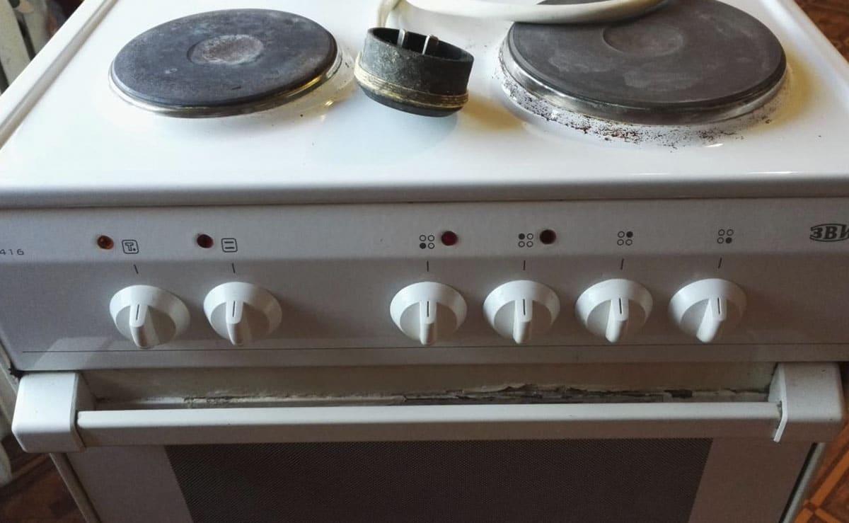 Старая электроплита