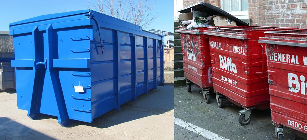 Виды контейнеров для отходов разных классов опасности