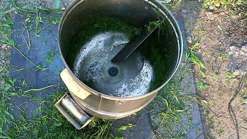 Садовый измельчитель из стиральной машинки