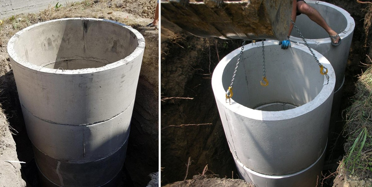 Монтаж ЖБИ колец для канализации