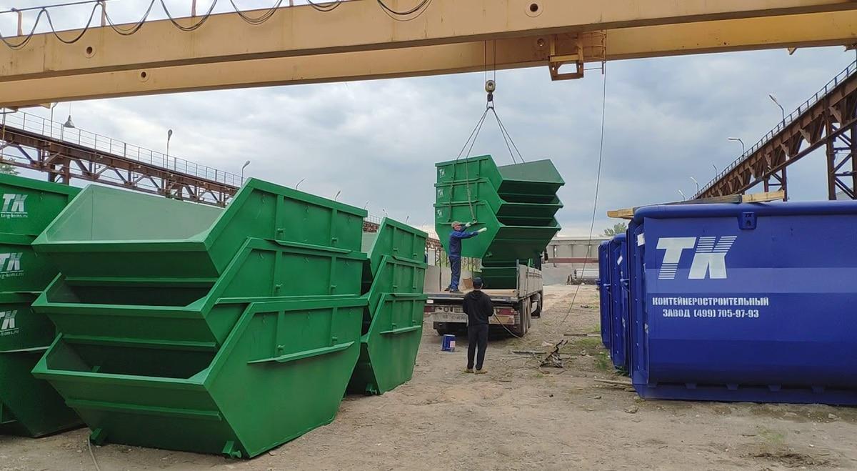 Стальные мусорные контейнеры