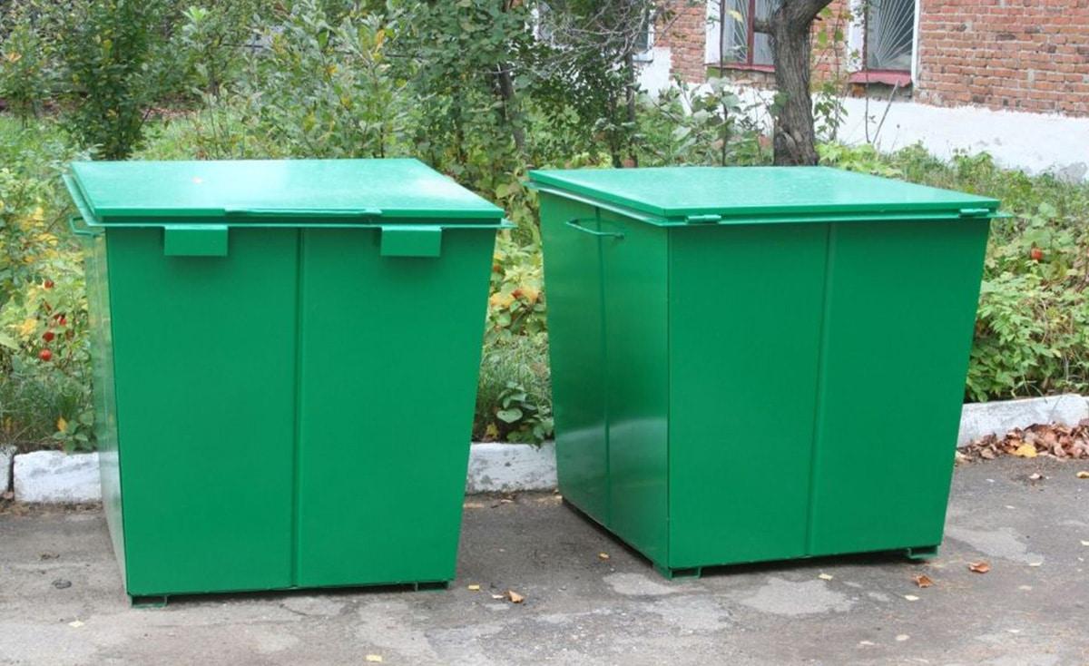 Металлические контейнеры для мусора V-0,75 м3
