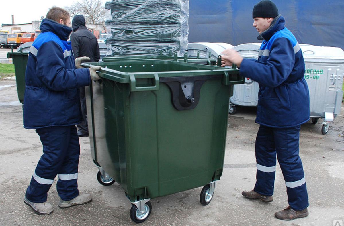 Передвижение мусорного бака до места установки