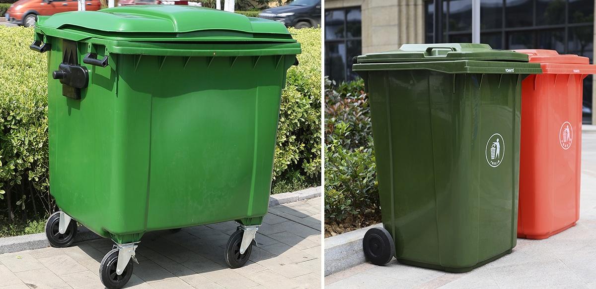 Внешний вид контейнеров под мусора