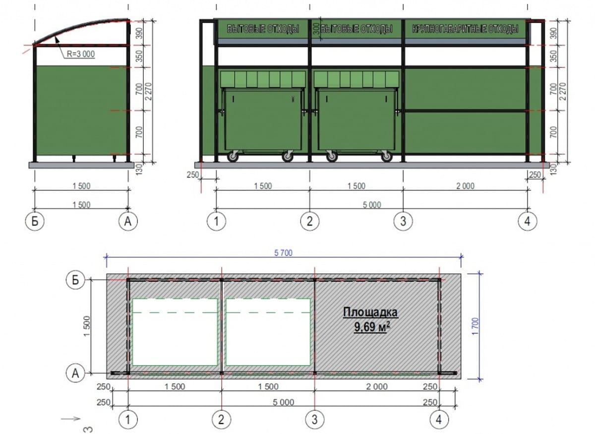 Размер стандартной площадки