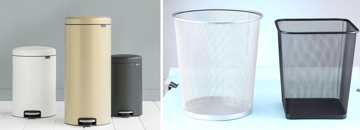 Разновидности мусорных контейнеров по объему