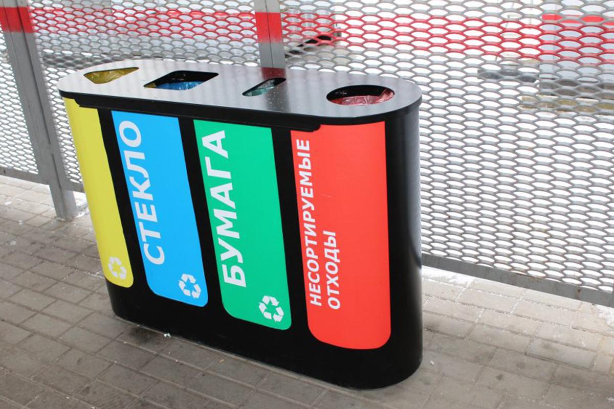 Многосекционные урны для сортировки мусора