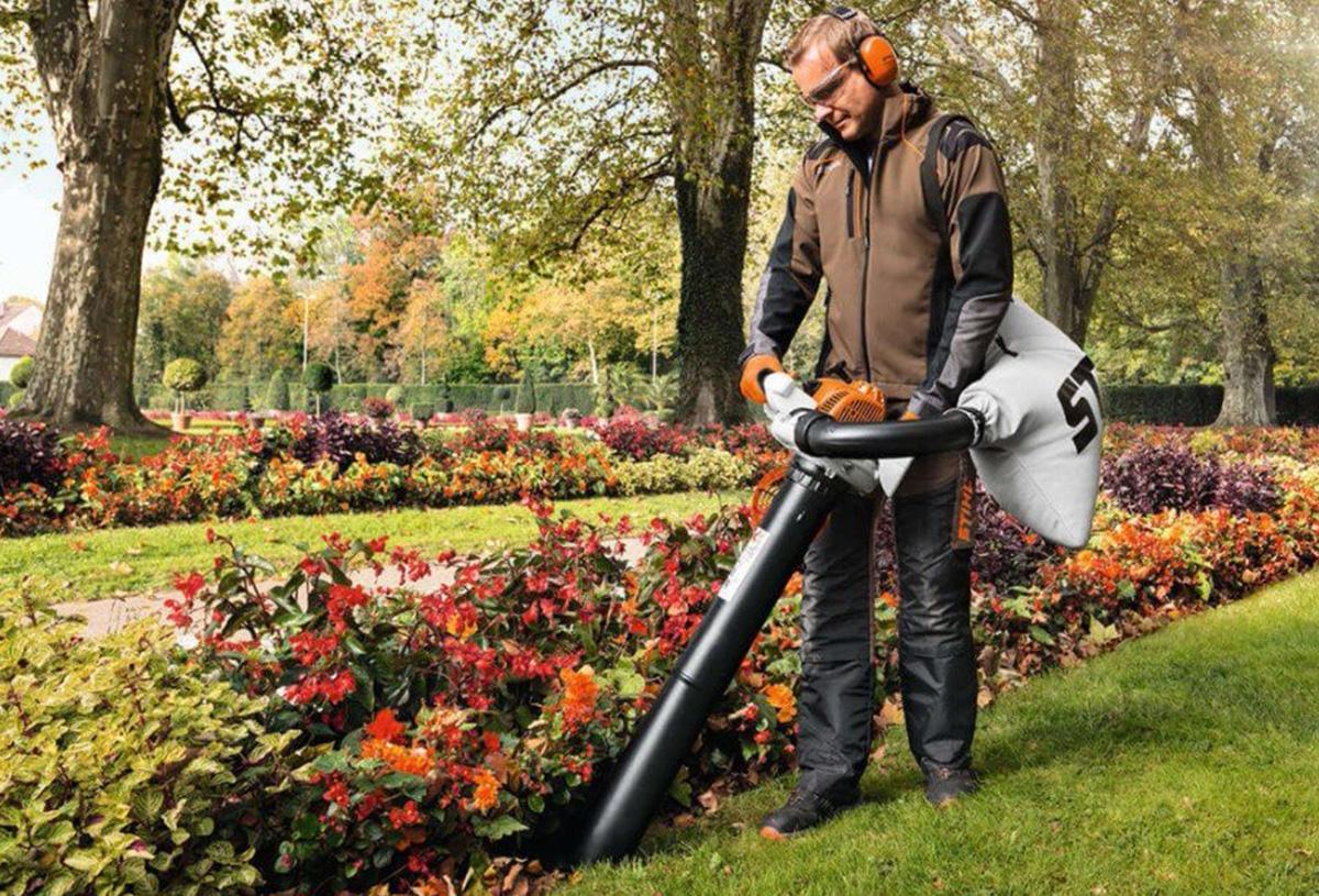 Садовый пылесос с бензиновым двигателем