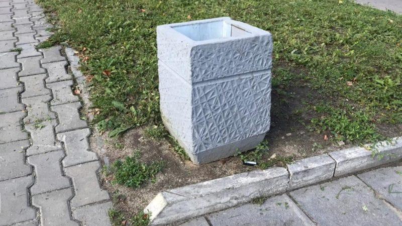 Урна из бетона для мусора