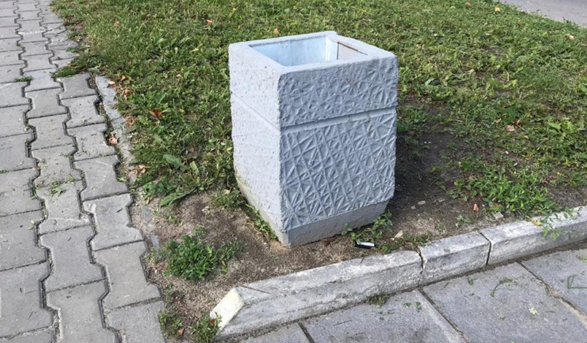 Урна из бетона для мусора — описание, виды, сфера применения