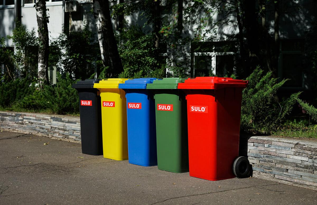Контейнеры для отходов из пластика 120 л