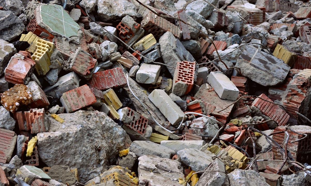 Расчет веса строительного мусора в 1 м3 с помощью таблицы для демонтажа
