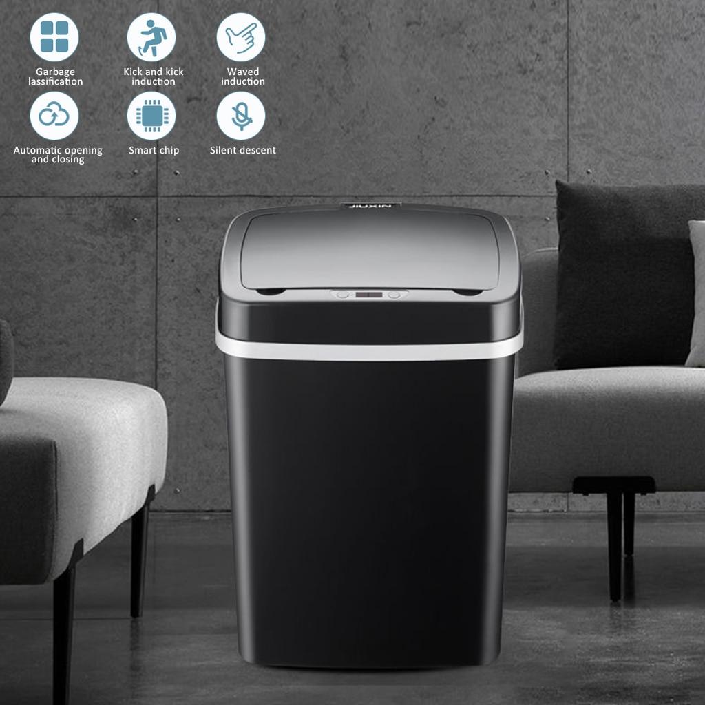 Новый Автоматический Бесконтактный интеллектуальный датчик индукционного движения мусорные баки для кухни широкий датчик открытия экологически чистый мусорный бак Мусорные баки    АлиЭкспресс