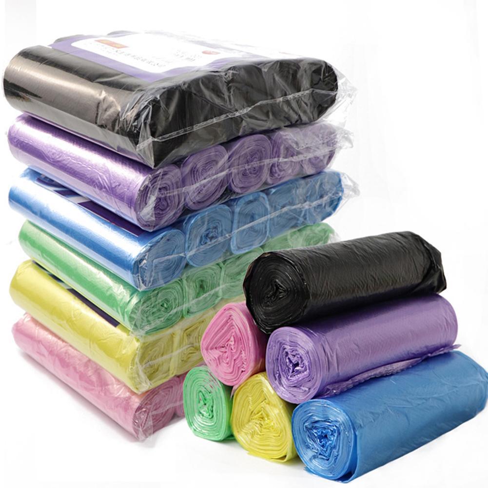 100 шт./5 рулонов, качественные утолщенные мешки для мусора, черные, фиолетовые, зеленые, синие мешки для мусора, мешки для хранения в стиле жилета для кухни, дома, мешки для мусора|Мешки для мусора| | АлиЭкспресс