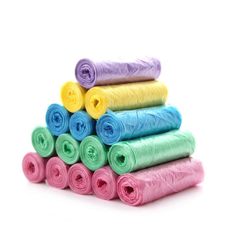 5 рулонов 100 упаковок, усиленные мешки для мусора|Мешки для мусора| | АлиЭкспресс