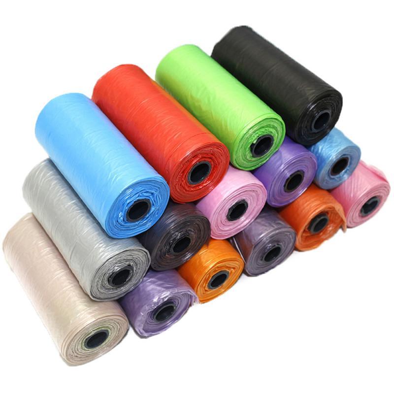 Дорожные мешки для мусора для домашних животных, 15 шт./рулон, биоразлагаемые цветные мешки для мусора, уличный Диспенсер для чистки, мешки для выведения кошек и собак|Совки и мешочки для сбора фекалий| | АлиЭкспресс