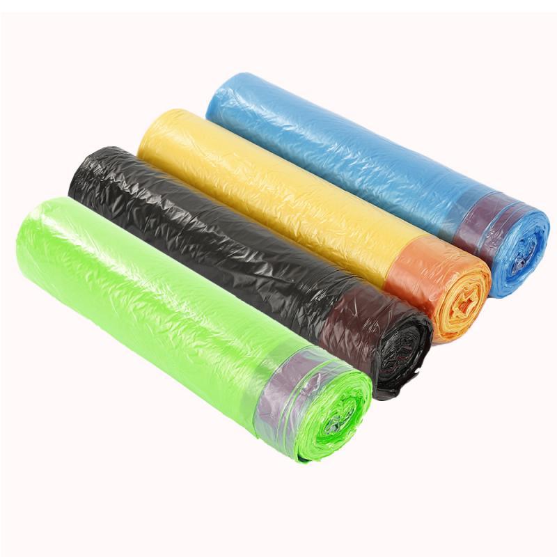 Мешки для мусора на шнурке, портативные одноразовые кухонные принадлежности для дома, пластиковые пакеты для мусора, ручки ПЭ шнурок|Мешки для мусора| | АлиЭкспресс