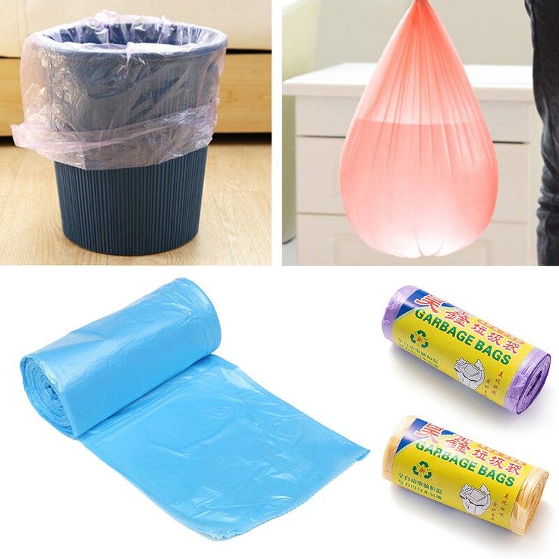 Новинка, 1 рулон/20 шт., кухонная искусственная утолщенная сумка для отходов, мусор для гостиной, ванной комнаты, 50*45 см, сумка ведро, случайный выбор|Мешки для мусора| | АлиЭкспресс