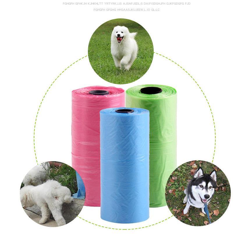 Пакеты для уборки домашних питомцев, 1 рулон, 15 шт.|Совки и мешочки для сбора фекалий| | АлиЭкспресс