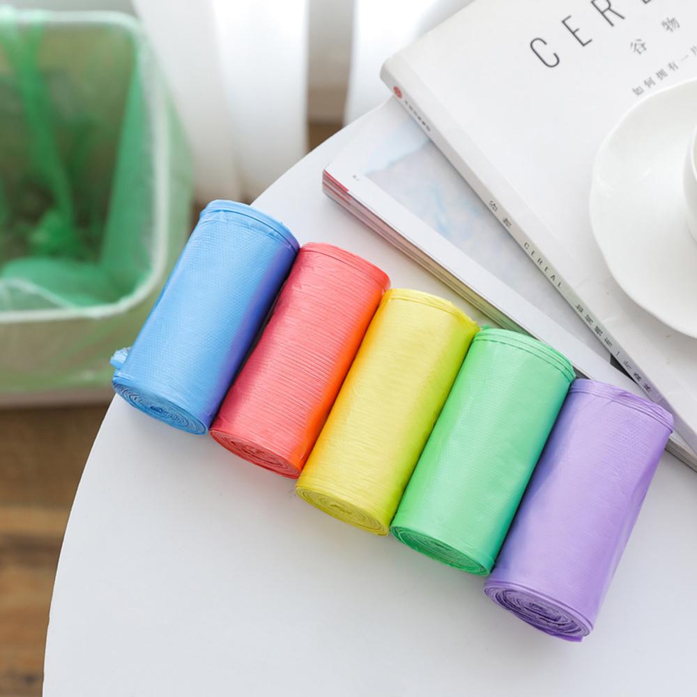 1 рулон мешков для мусора, одноцветные толстые удобные экологически чистые пакеты для мусора, пластиковые маленькие мешки для мусора|Мешки для мусора| | АлиЭкспресс