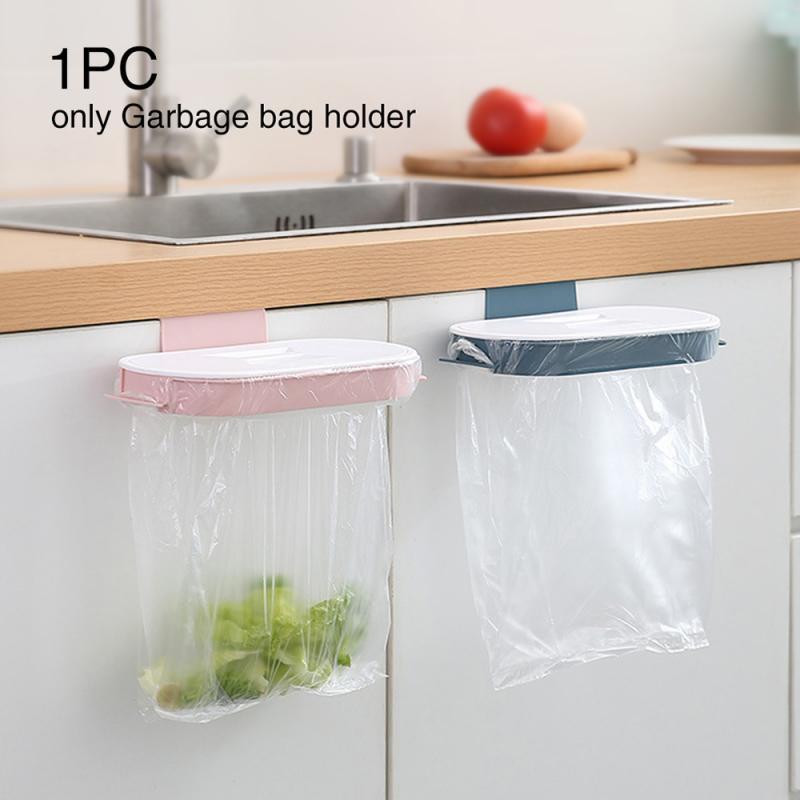 1 шт. подвесная стойка на дверь шкафа, корзина для отходов с крышкой, экономия места на кухонном шкафу, корзина для мусора, аксессуары для хранения|Мусорные баки| | АлиЭкспресс