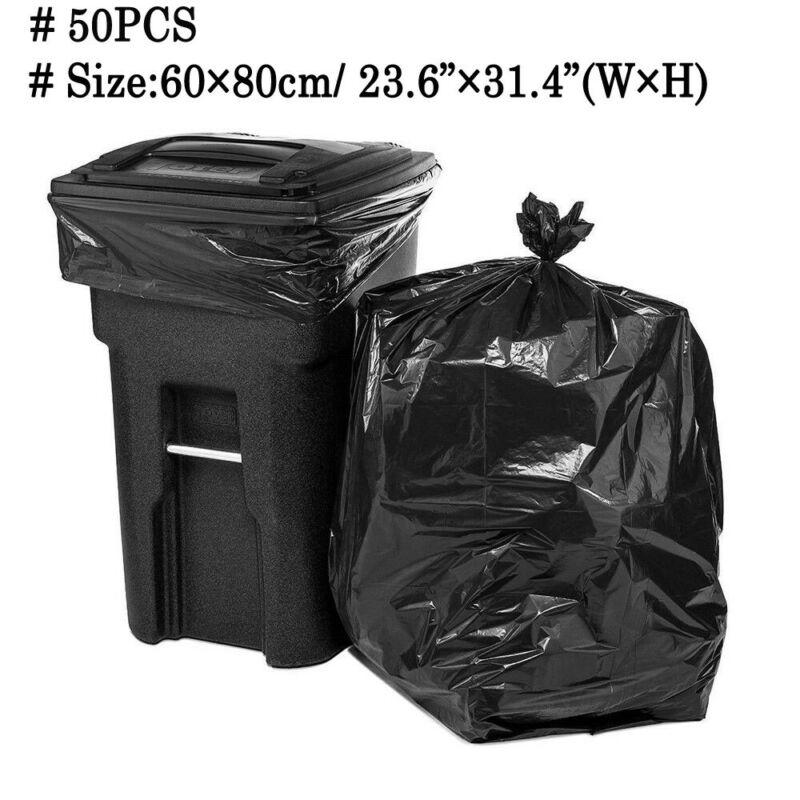 50 шт. большой размер сверхмощный очень большой мешок для мусора Коммерческая сумка для мусора для дома на заднем дворе черная кухня гостиная|Мешки для мусора| | АлиЭкспресс