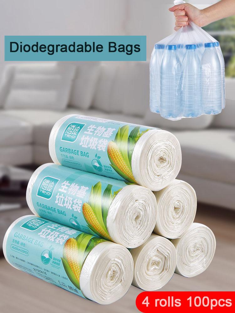 Биоразлагаемые хозяйственные мешки для мусора из кукурузы, одноразовые мешки для уборки унитаза, кухонные мешки для мусора, толстые пластиковые пакеты|Мешки для мусора| | АлиЭкспресс