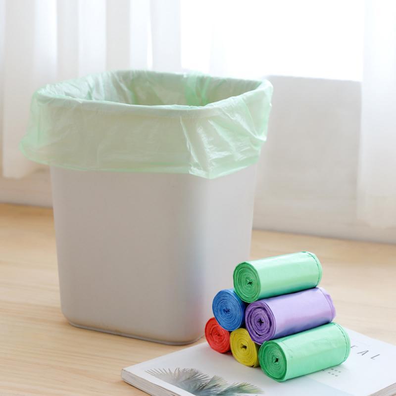 Мешки для мусора одноцветные толстые мешки для мусора прочные одноразовые экологически чистые отходы Пластиковые домашние кухонные принадлежности|Мешки для мусора| | АлиЭкспресс