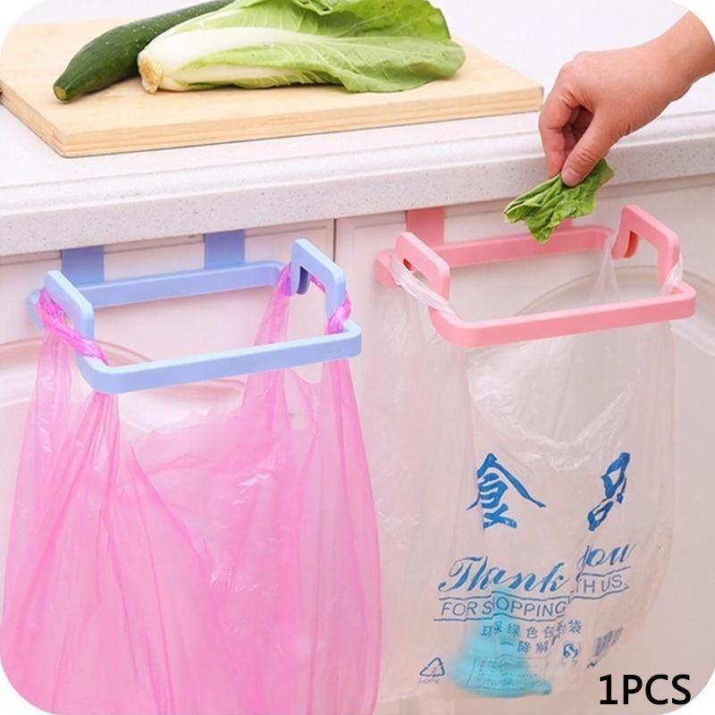Держатель Вешалка для мешков для мусора Кухня гаджеты Портативный висит мешок для мусора, Пластик держатель для мусорного мешка стеллаж для хранения пакетов одноразового использования|Мусорные баки| | АлиЭкспресс