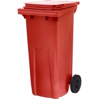 Контейнер мусорный, 120 литров, красный