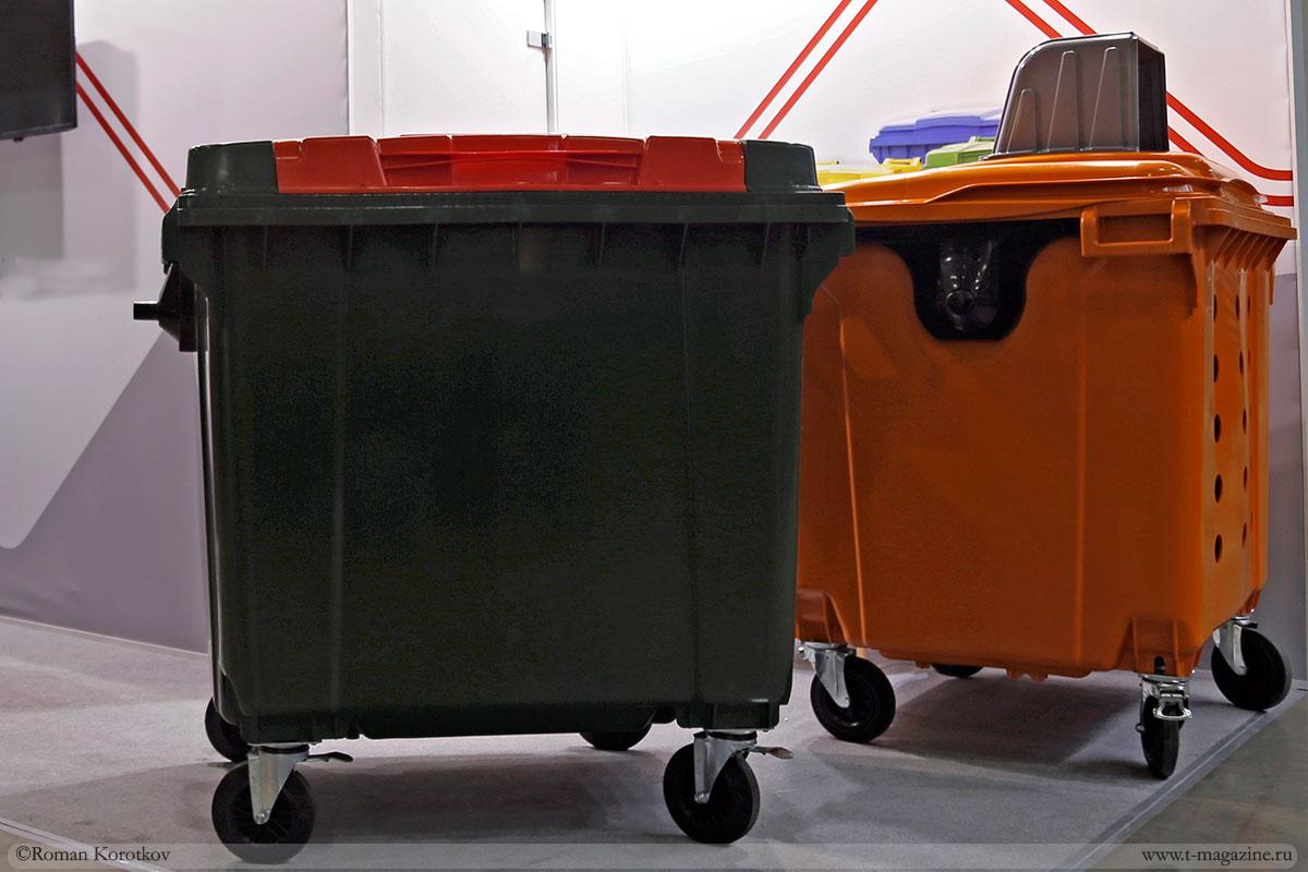 Пластиковые мусорные контейнера 1100 литров