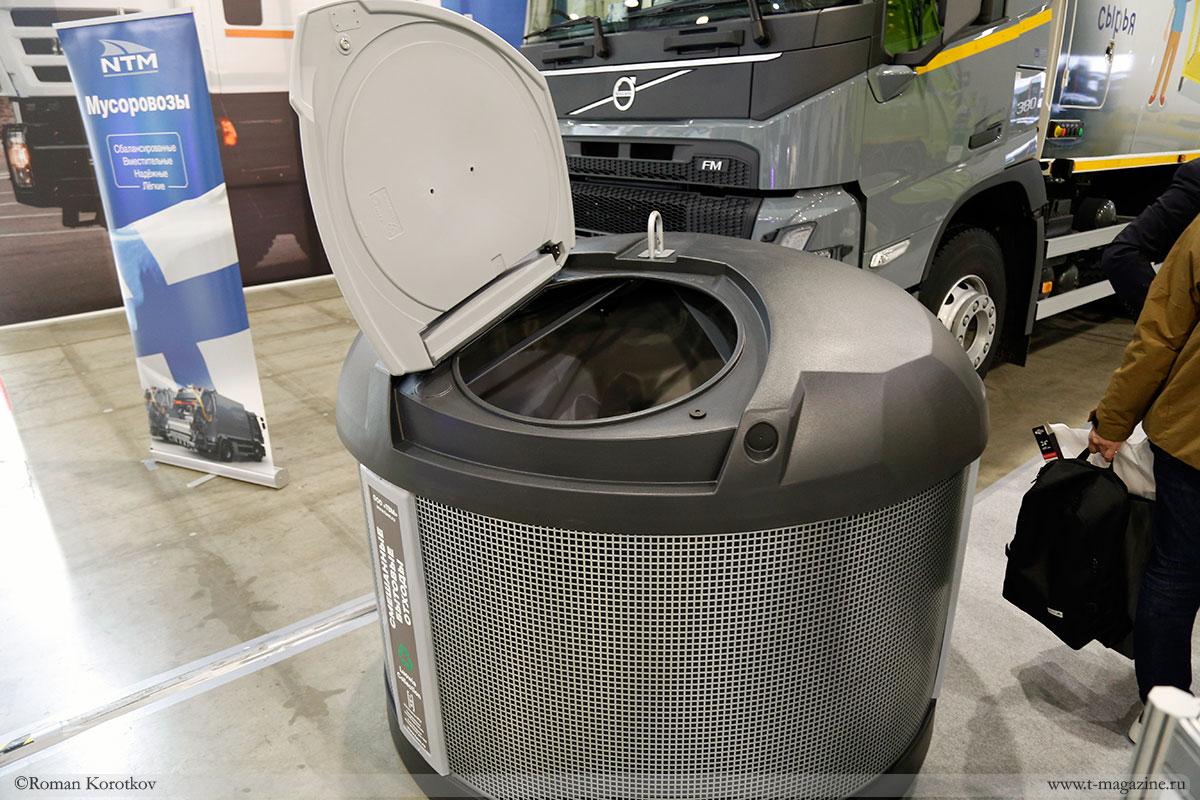 Заглубленный контейнер для отходов